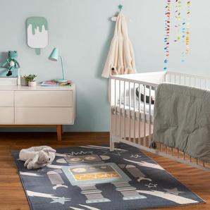 Tapis enfant Juno Bleu 120x170 cm - Tapis pour chambre denfants/bébé