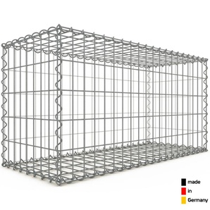 Gabion 100x50x40cm « made in Germany » - mailles rectangulaires 5x10cm - GABIONDECO