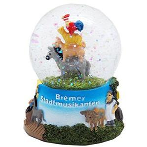 30038 Contes Boule à neige musiciens de Brême 65 mm