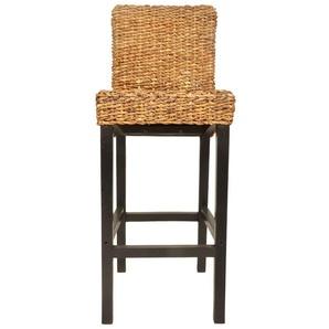 Lot de deux tabourets de bar design chaise siège abaca marron - HELLOSHOP26