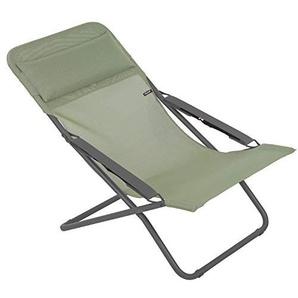 Lafuma Chaise longue, Pliable et réglable, Transabed, Batyline, Couleur: Moss, LFM2863-8557