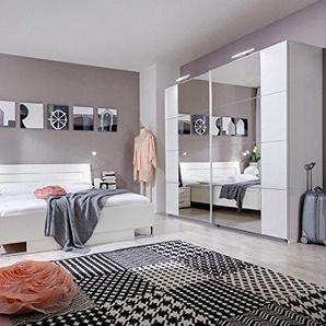 PEGANE Chambre Adulte en Panneaux de Particules Coloris Blanc 180 X 200 cm