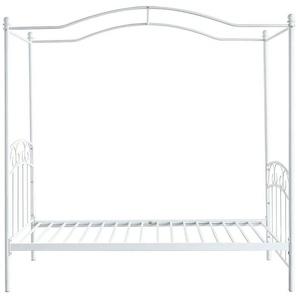 Lit baldaquin romantique 90x190 cm blanc BECCA - MILIBOO