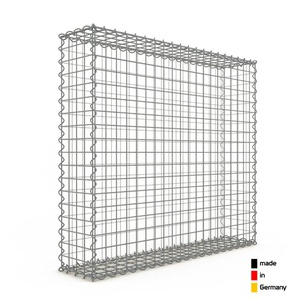 Gabion 100x90x20cm « made in Germany » - mailles carrées 5x5cm - GABIONDECO