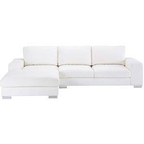 Canapé dangle 5 places en cuir blanc New York