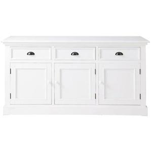 Buffet 3 portes 3 tiroirs blanc Newport
