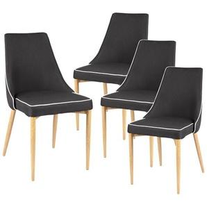 Moss - Lot de 4 Chaises Noires