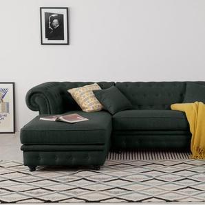 Branagh, canapé d'angle avec méridienne à gauche, gris anthracite