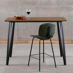 Table haute moderne couleur noyer BORA