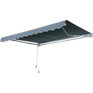 Store banne manuel rétractable aluminium polyester imperméabilisé 2,95L x 2,5l m gris - Outsunny