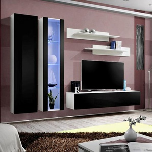 Meuble TV complet noir et blanc PADRU