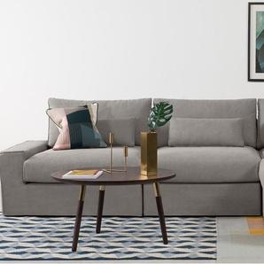 TRENT, Loose Cover Modular Corner Seat, Washed Grey Cotton
