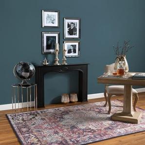 Tapis Vintage Cedar Multicouleur/Rouge 300x400 cm - Tapis poil ras / effet usé