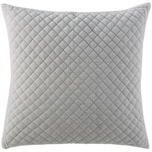 Coussin en coton gris effet velours à motifs 60x60