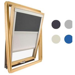 Store Duo pour fenêtre de toit Velux ® - Gris anthracite - Code dimension MK04 - AVOSDIM