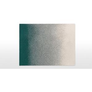 Aimi, plaid tricoté en coton 130 x 170 cm, vert d'eau