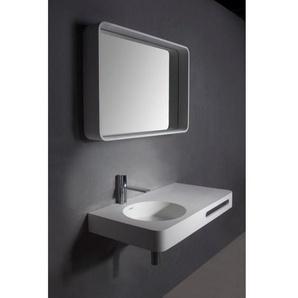 Ideavit Solidtondo Miroir 90x60cm Solid surface blanc 284226