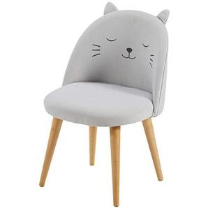 Chaise enfant gris clair à motifs Cats