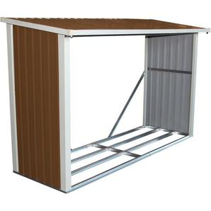 Abri à bûches pour le jardin - métal - 242 x 89 cm - CHARLES BENTLEY