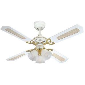 Ventilateur de plafond blanc Princess Trio