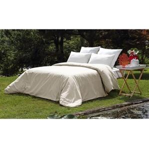 VENT DU SUD Housse de couette PALACE en coton lavé - 140x200 cm - Blanc lin