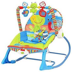 NuoEn Fauteuil à bascule bébé, musique multifonctionnel de bascule bébé pliable shake confort bébé Swing chaise bébé inclinable