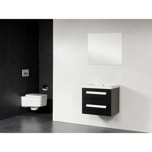 Saniclass Foggia Meuble salle de bain avec miroir 60x45.5cm Black Wood S150121