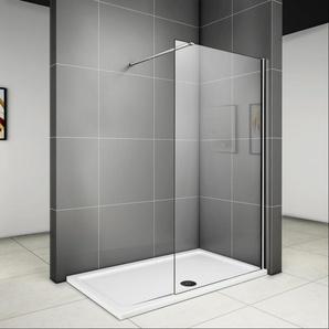 800x1950x6mm paroi de douche walk in verre anticalcaire avec barre fixation extensible - AICA SANITAIRE
