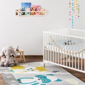 Tapis enfant Fantasia Bleu 160x230 cm - Tapis pour chambre denfants/bébé