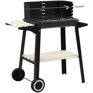 Barbecue au charbon de bois avec roulettes - CREARTIVE DESIGN