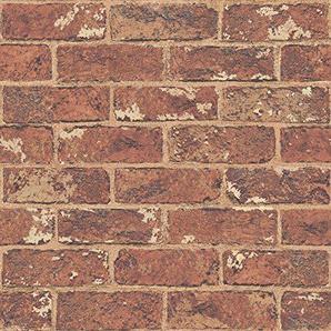 Rouge brique naturelle effet papier peint - 262918 Windsor Wallcoverings