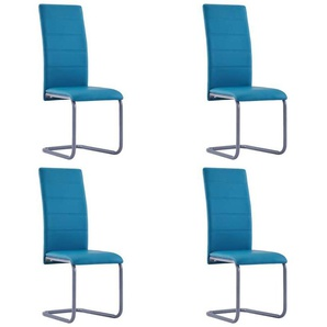 Chaises de salle à manger 4 pcs Bleu Similicuir - VIDAXL
