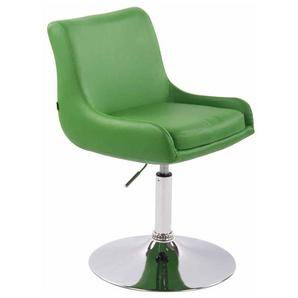 Fauteuil lounge Club similicuir vert - CLP