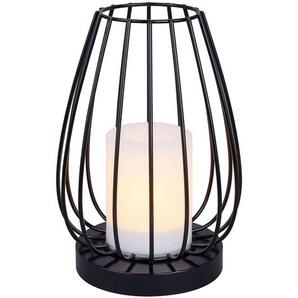 Lampe solaire LED Hannika, effet torche ambrée