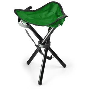 DURAMAXX Chaise de camping trépied pêche mobile vert noir 500g