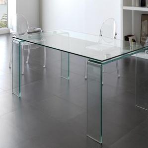Table de salle à manger en verre design ICE