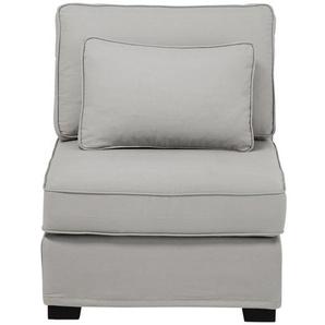 Chauffeuse de canapé en coton gris clair Milano