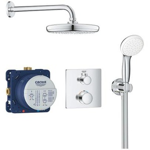 Set de douche Tempesta 210 avec thermostat encastré, chrome (34729000) - GROHE