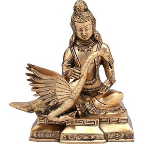 Exotic India Siddhartha dallaitement The Wounded Swan, Naturel Laiton, Taille: 5,7x 8,2x 9.5