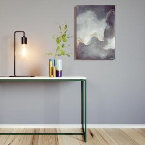 Table basse - blanc Carrara, design, bout de canapé sophistiqué - 121 x 71 x 42 cm, personnalisable