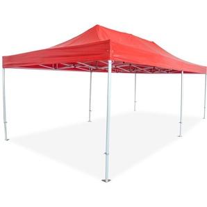 Barnum pliant PRO 4x8 Alu 50 PVC 520g/m² Coloris Rouge - INTEROUGE