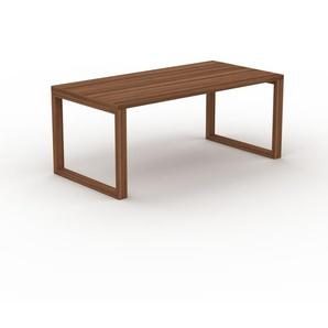Table en noyer, bois massif, design contemporain, table en bois élégante - 180 x 75 x 90 cm, personnalisable