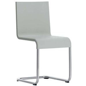 Vitra .05 - Chaise non empilable - gris/structure acier inoydable