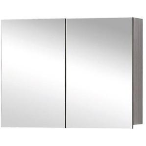 Differnz Armoire de toilette 60x60x15cm 2 portes avec miroir MDF chêne 36.701.00