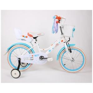 MILLY | Vélo évolutif enfant 2 roues 16 + stabilisateurs | Cadre acier Selle confortable + Acessoires Panier/Rubans/Siège Poupée | Blanc/Orange - TROUV