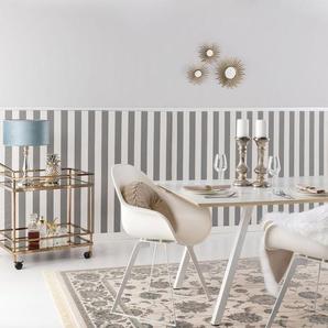 Tapis poil ras Nain Beige/Bleu 240x340 cm - Tapis poil court design moderne pour salon