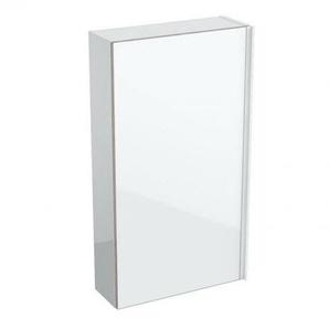 Geberit Acanto armoire murale plate 500639, 450x820x174mm, Couleur (avant/corps): verre blanc / blanc laqué brillant - 500.639.01.2