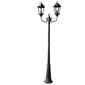 Lampadaire extérieur double noir 230 cm luminaire décoration - HELLOSHOP26