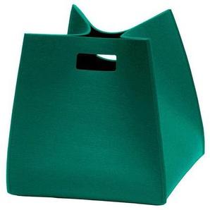 Hey-Sign Corbeille de feutre Tall Box S - jade/feutre/5mm/LxPxH 35x35x35cm