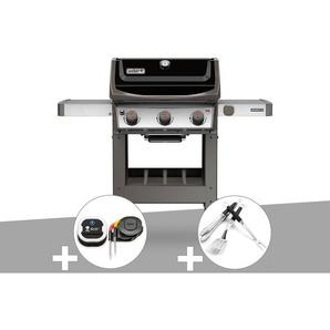 Barbecue gaz Weber Spirit II E-310 + plancha + Thermomètre IGrill 3 + Kit Ustensile